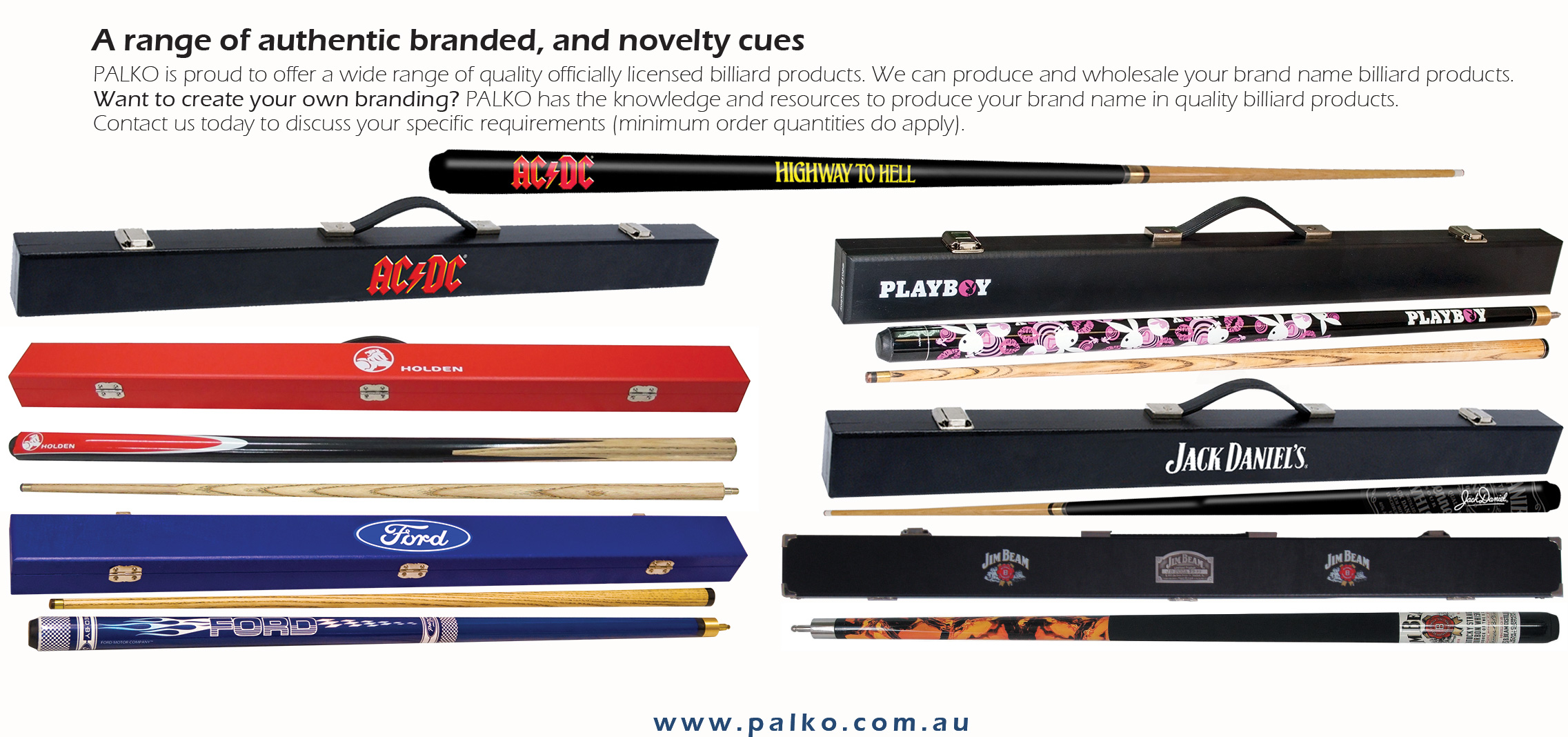 A range of authentic branded, and novelty cues